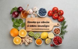 Alimentos que estimulan el sistema inmonológico